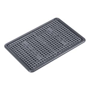 DELFIN® Abtropfwanne, 67 x 47 cm, Abtropfablage mit integriertem Ausgießer, Farbe: grau