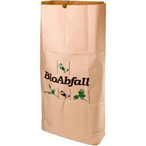 BIOMAT® Einstecksäcke aus Kraftpapier 120 Liter, Maße: 750 x 250 x 1150 mm, 1 Bündel = 25 Einstecksäcke