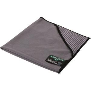 UNGER ErgoTec® NINJA MicroWipe™ Mikrofasertuch, Hochleistungsfähiges Tuch für Glas und Fenster, 40 x 40 cm, 1 Tuch