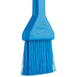 Vikan Lebensmittelpinsel, 50 mm, weich, Backpinsel mit dünnen und weichen Borsten, Farbe: blau