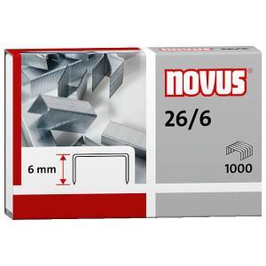 Novus 26/6 Heftklammer, Für Papierstapel bis 25 Blatt Standardpapier (80 g/qm), 1 Packung = 1000 Stück