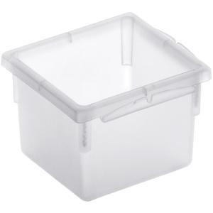Rotho BASIC Schubladen-Ordnungssystem, transparent, Schubladen-Ordnungssystem aus Kunststoff , Maße: 80 x 80 x 50 mm