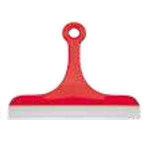 Haug Glas- und Fliesenabzieher, Besatz: Gummilippe, 200 mm, Farbe: rot