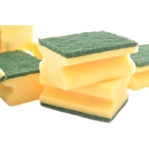 Vliesschwamm, gelber Schaum/grünes Vlies, Größe: ca. 95 x 70 x 45 mm