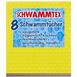 Spontex Schwammtex Schwammtücher, In der praktischen 8er Vorteilspackung, 1 Packung = 8 Schwammtücher