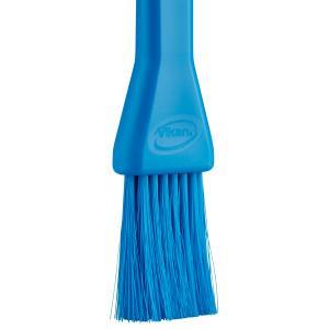 Vikan Lebensmittelpinsel, 30 mm, weich, Backpinsel mit dünnen und weichen Borsten, Farbe: blau