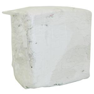 Trikotputzlappen, reinweiß, Weiße Trikotputzlappen aus Baumwollgewebe, 1 Paket = 10 kg gepresst