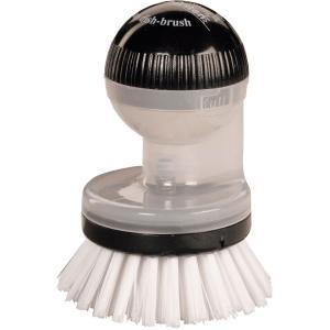 Haug spüli-rondo Knopfbürste, mit Spülmittelspender, Besatz: Nylon 6,6, Farbe: eis