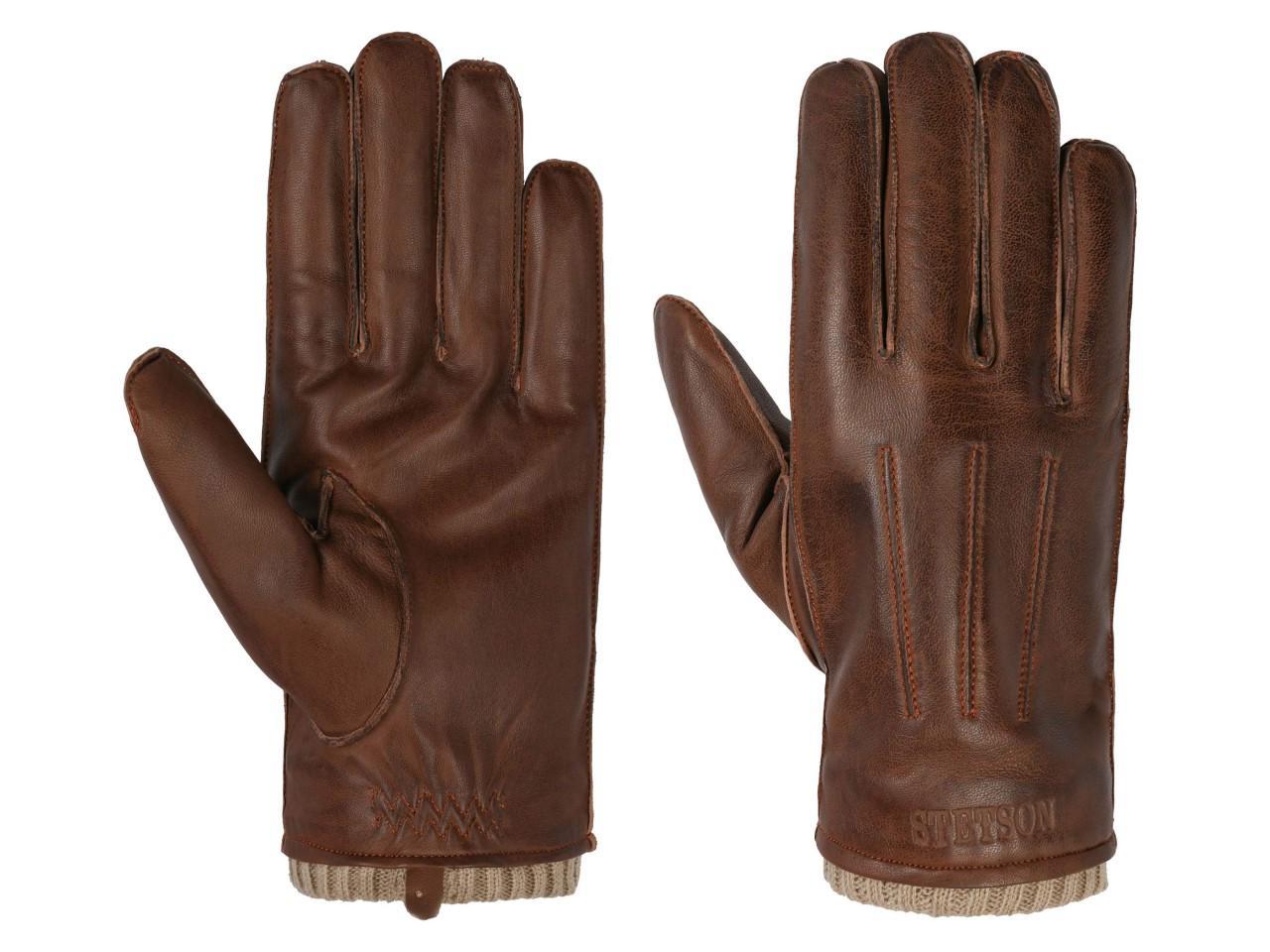 Stetson Gloves Sheepskin Lederhandschuhe, Braun (61) 21,5 cm (8/S)