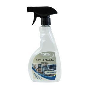 Ofixol Acryl- & Plexiglasreiniger, Spezialprodukt zur Reinigung von Acryl- & Plexiglasflächen, 0,5 Liter - Sprühflasche