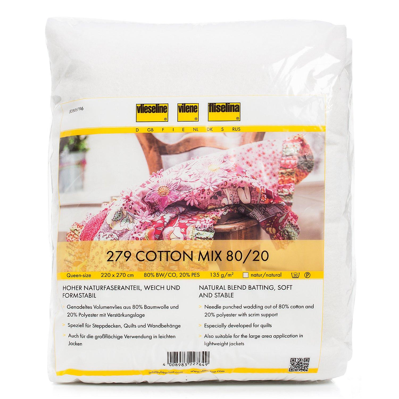 Vlieseline ® Volumenvlies 279 Cotton Mix, natur, 140 g/m², 220 x 270 cm