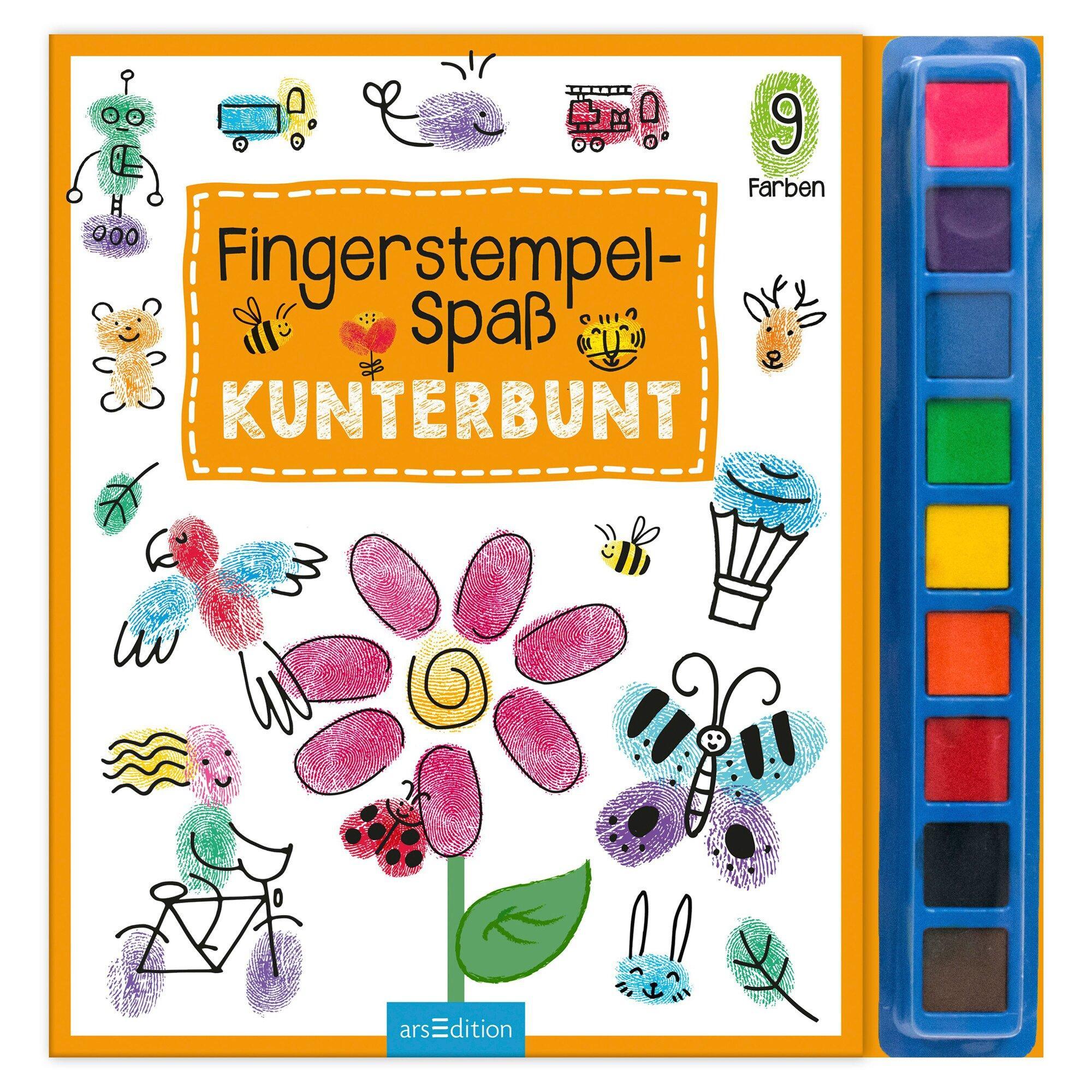 Malbuch Fingerstempel-Spaß Kunterbunt