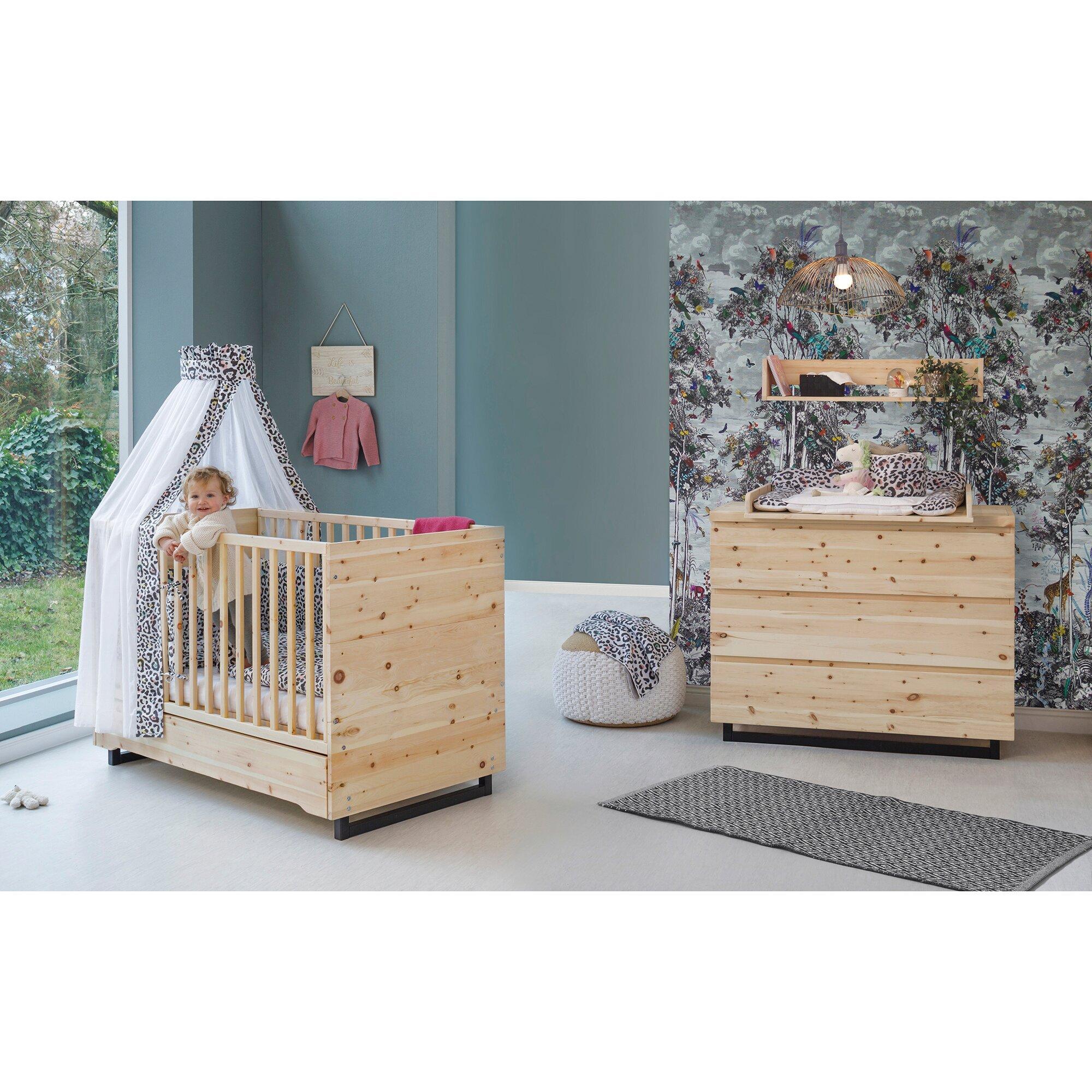 2-tlg. Babyzimmer Zirbenholz