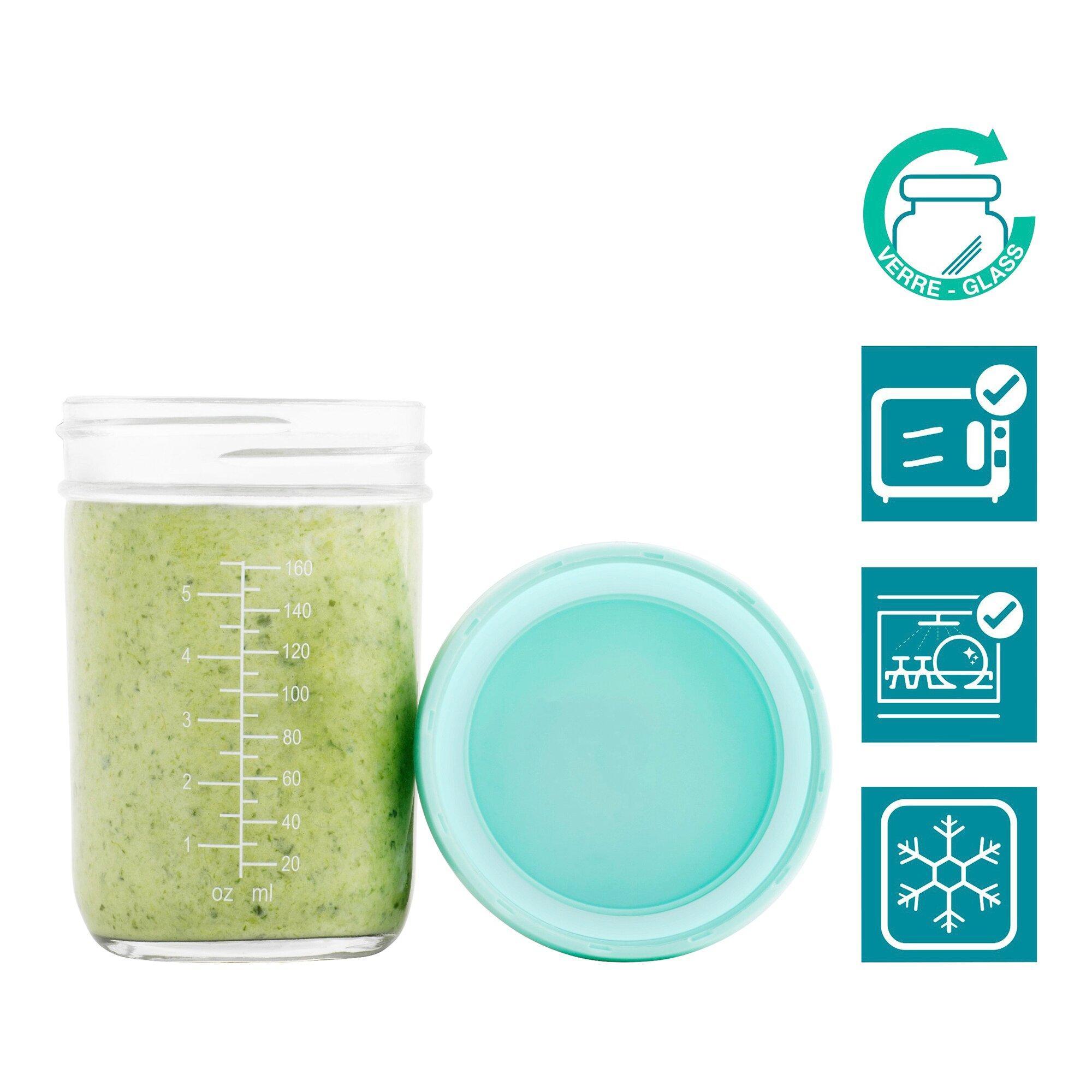 4er-Pack Aufbewahrungsbecher Glas