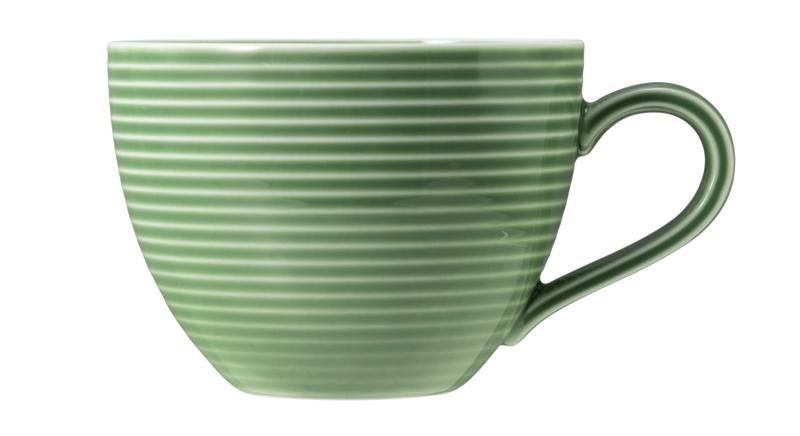 Seltmann Weiden Beat Kaffeetasse 0,26 l mit Relief Color Glaze Salbeig