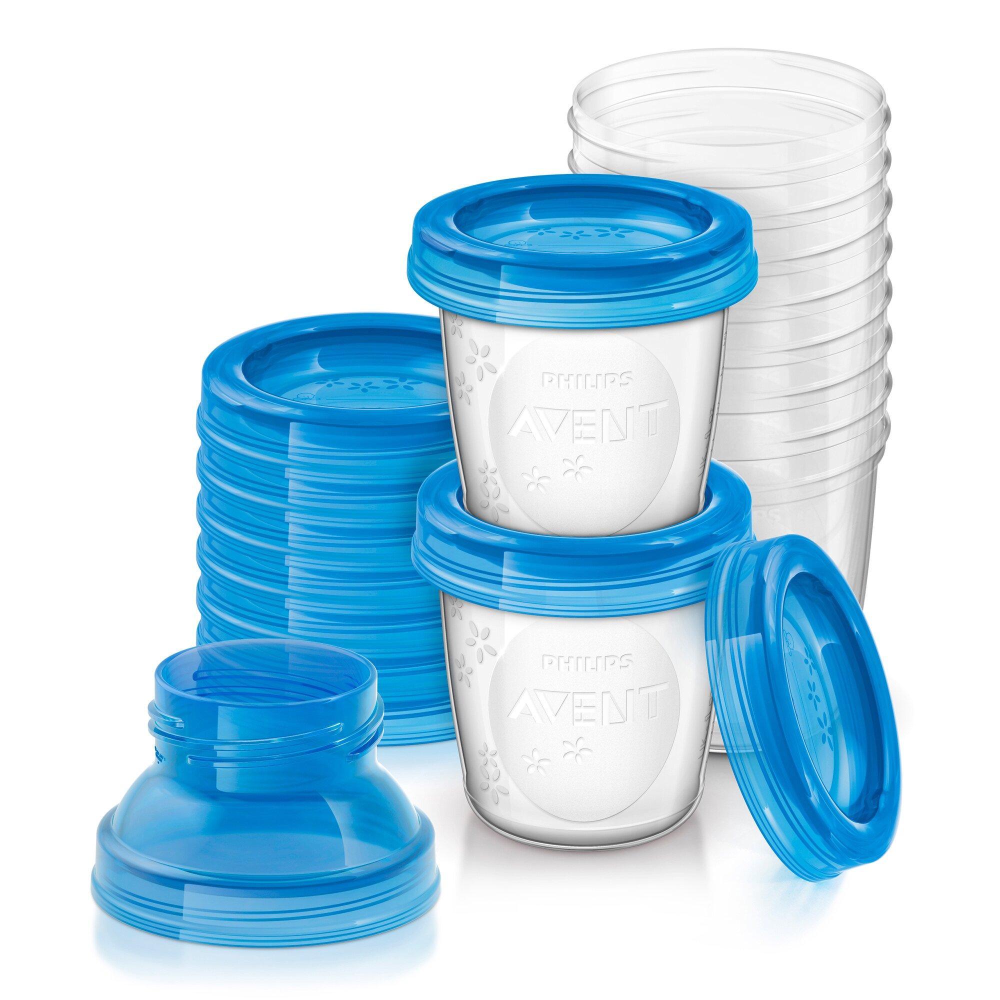 Aufbewahrungsbecher für Muttermilch, SCF618/10, 10x180ml Becher