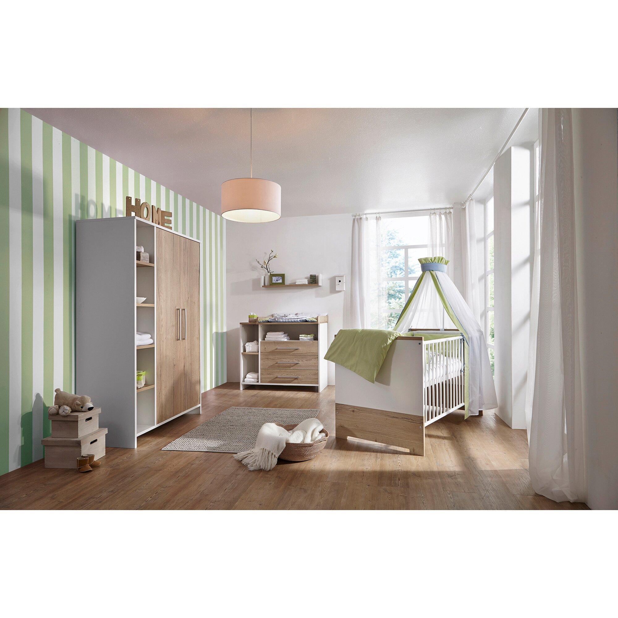 3-tlg. Babyzimmer Eco Plus mit 2-türigem Kleiderschrank