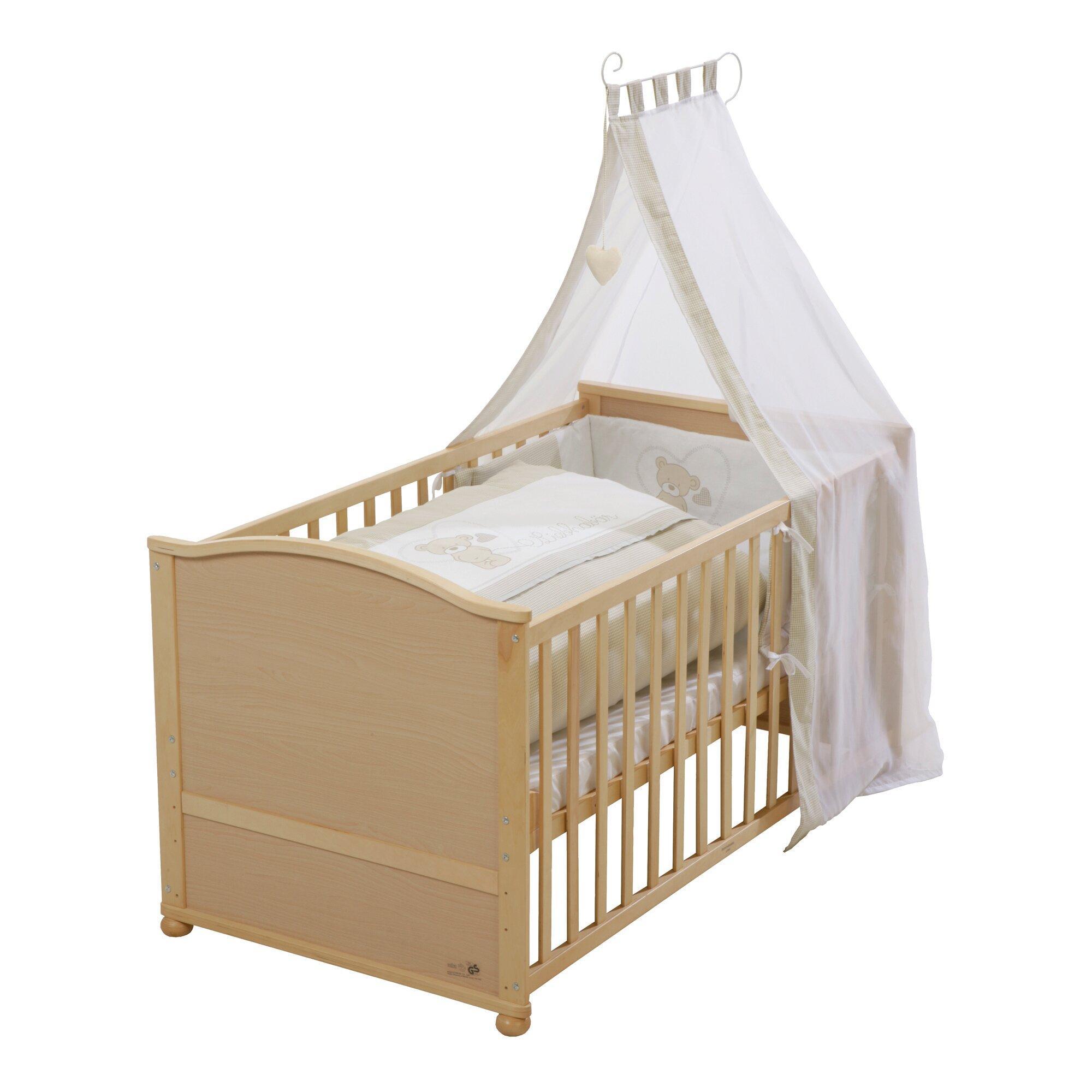 Babybett mit Ausstattung Liebhabär 70x140 cm