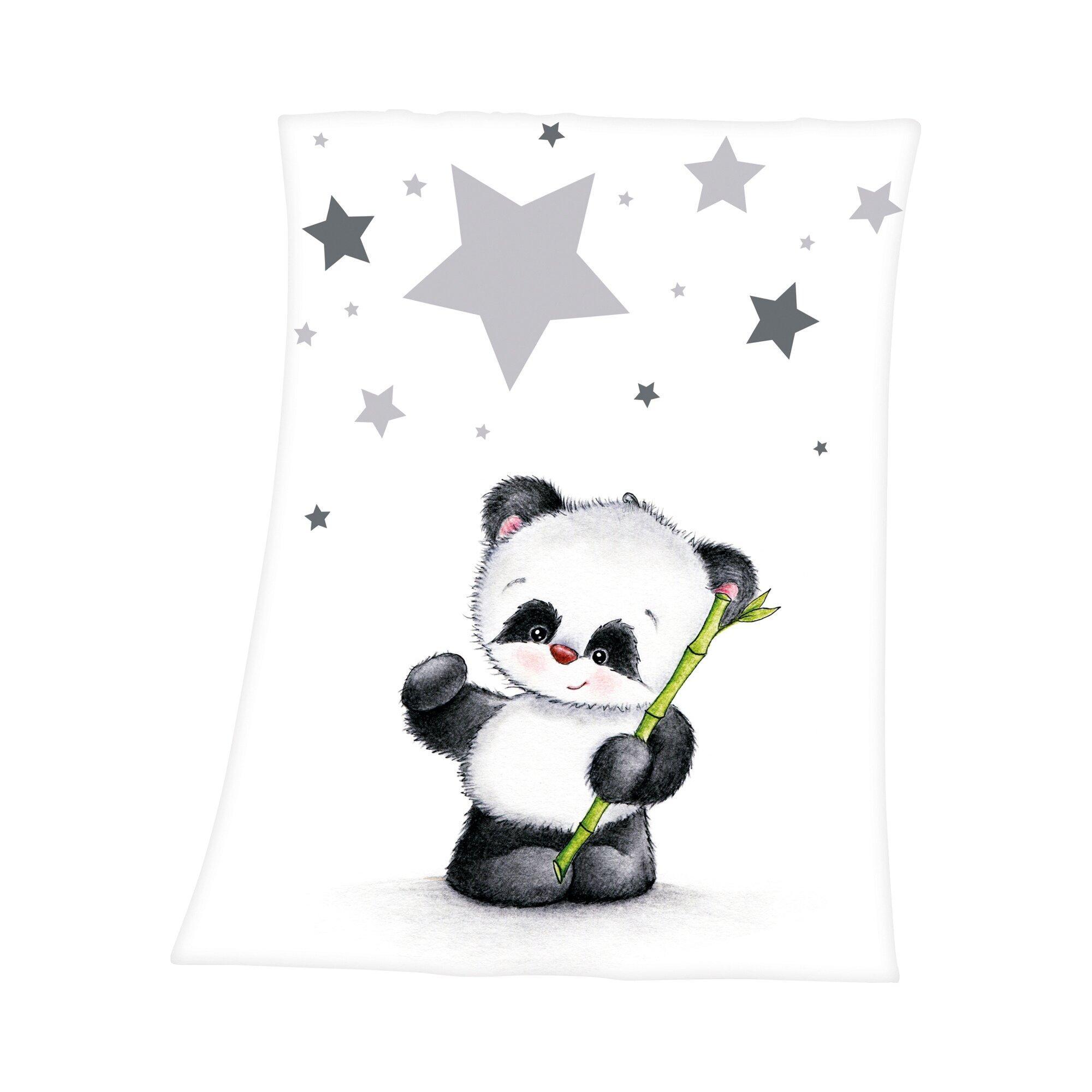 Babydecke Fynn Panda 75x100 cm