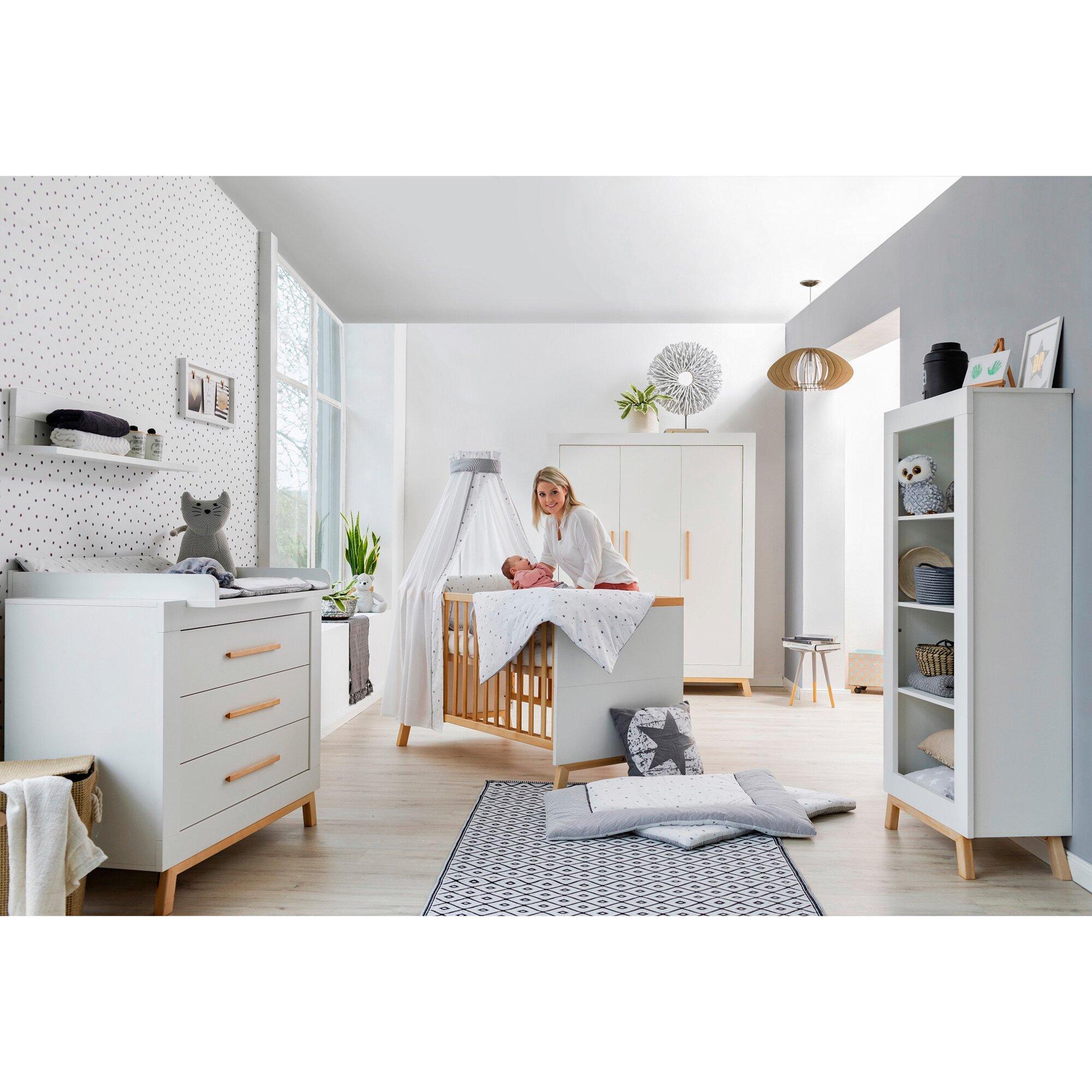3-tlg. Babyzimmer Miami mit 3-türigem Kleiderschrank