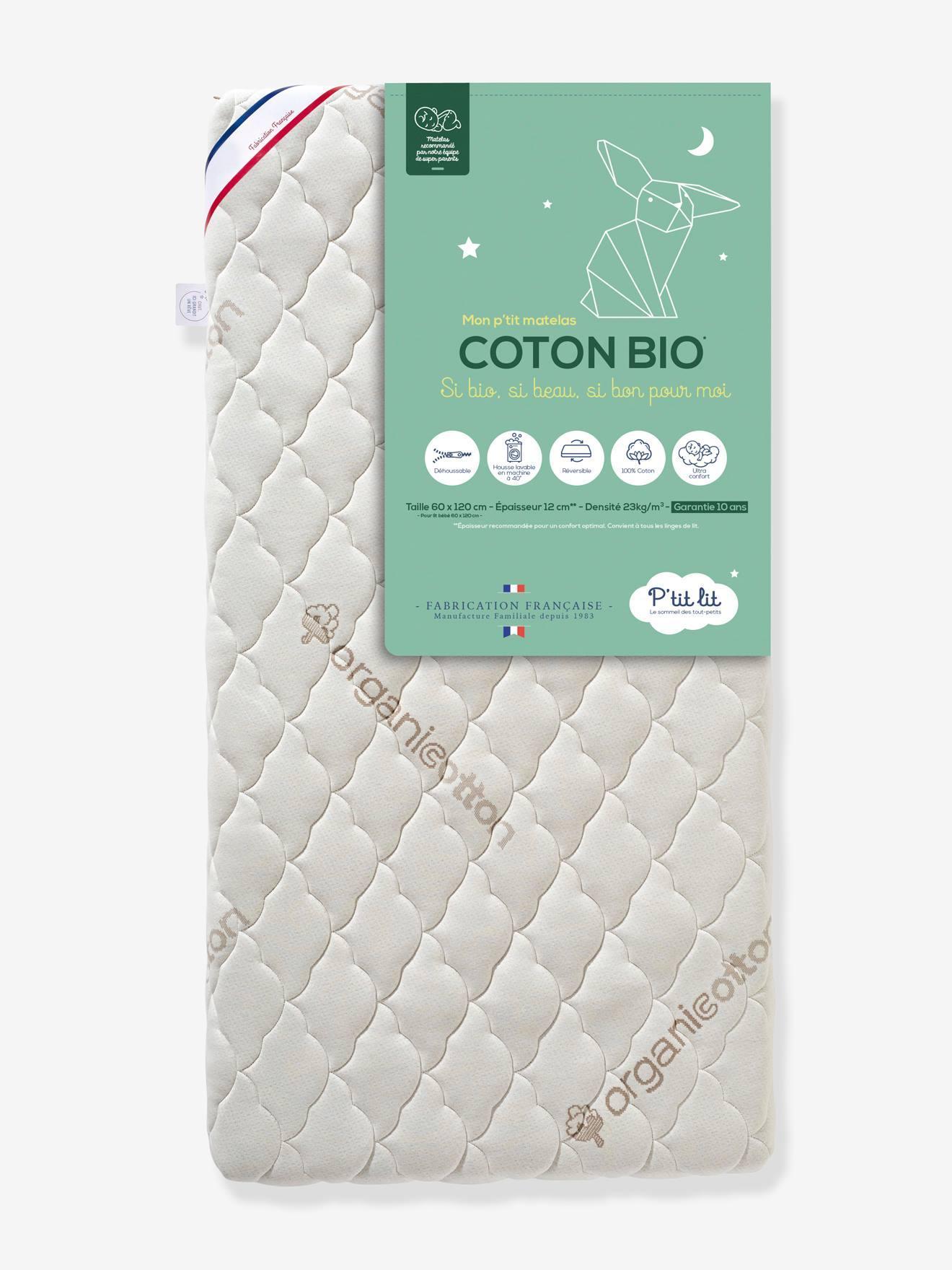 """Baby Matratze mit Bio-Baumwolle """"Coton Bio"""" P'TIT LIT, 60 x 120 cm weiß Gr. 60x120"""