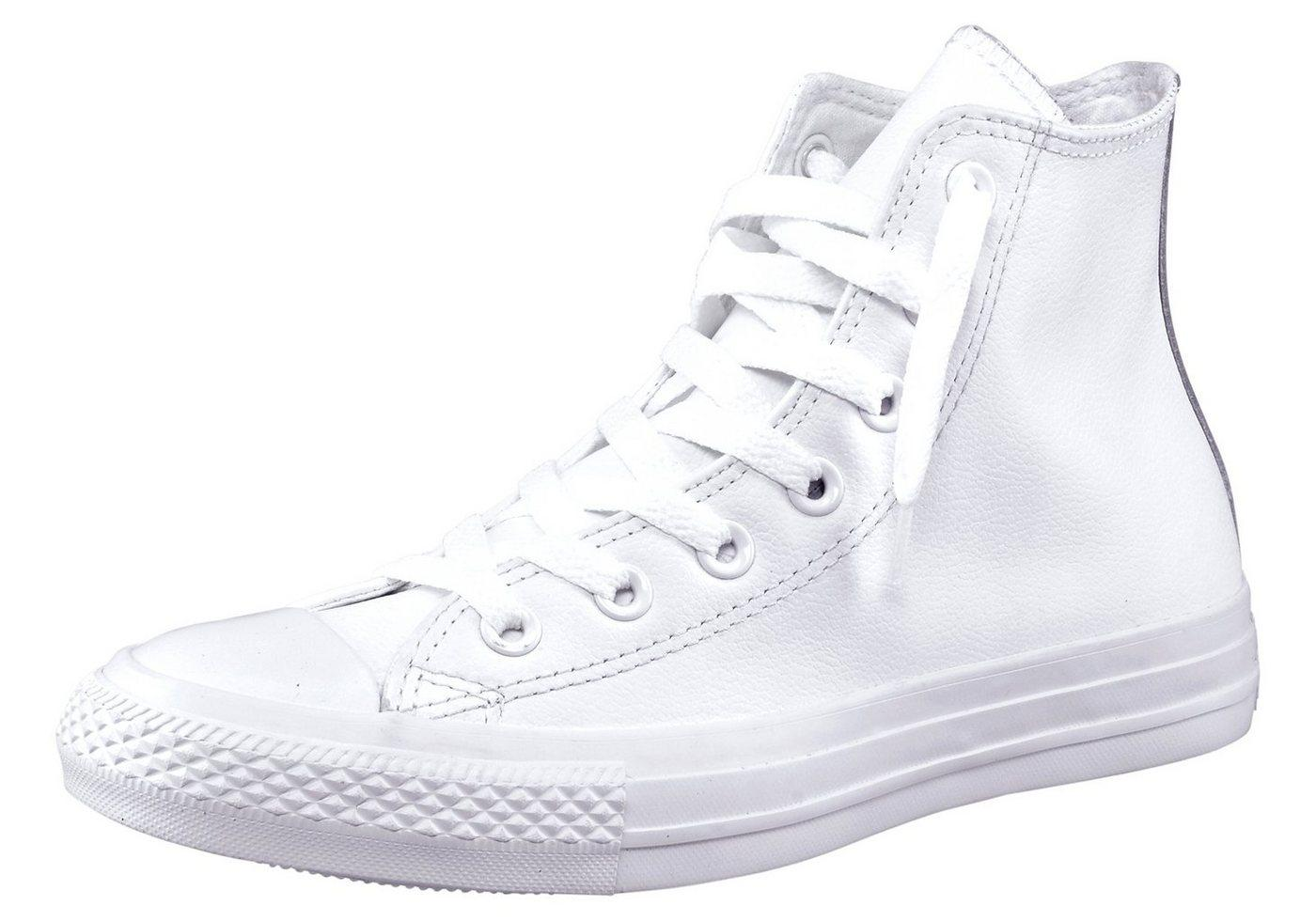 Converse »Chuck Taylor All Star Hi Monocrome Leather« Sneaker Monocrom, weiß