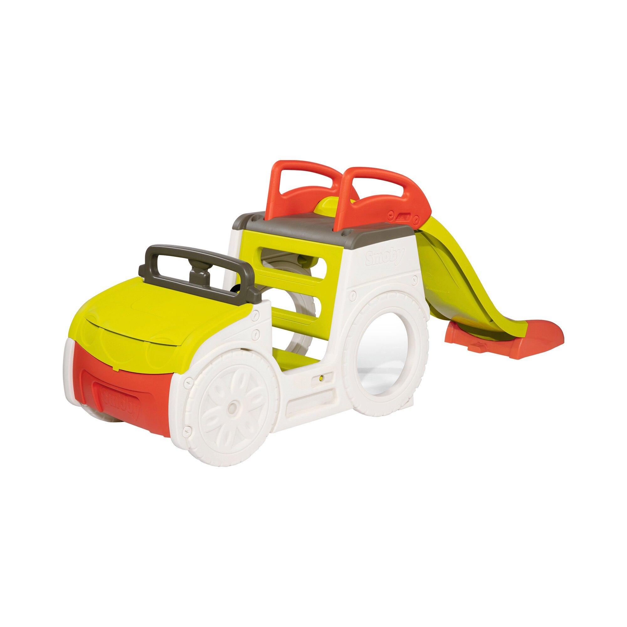Abenteuer-Spielauto mit Rutsche