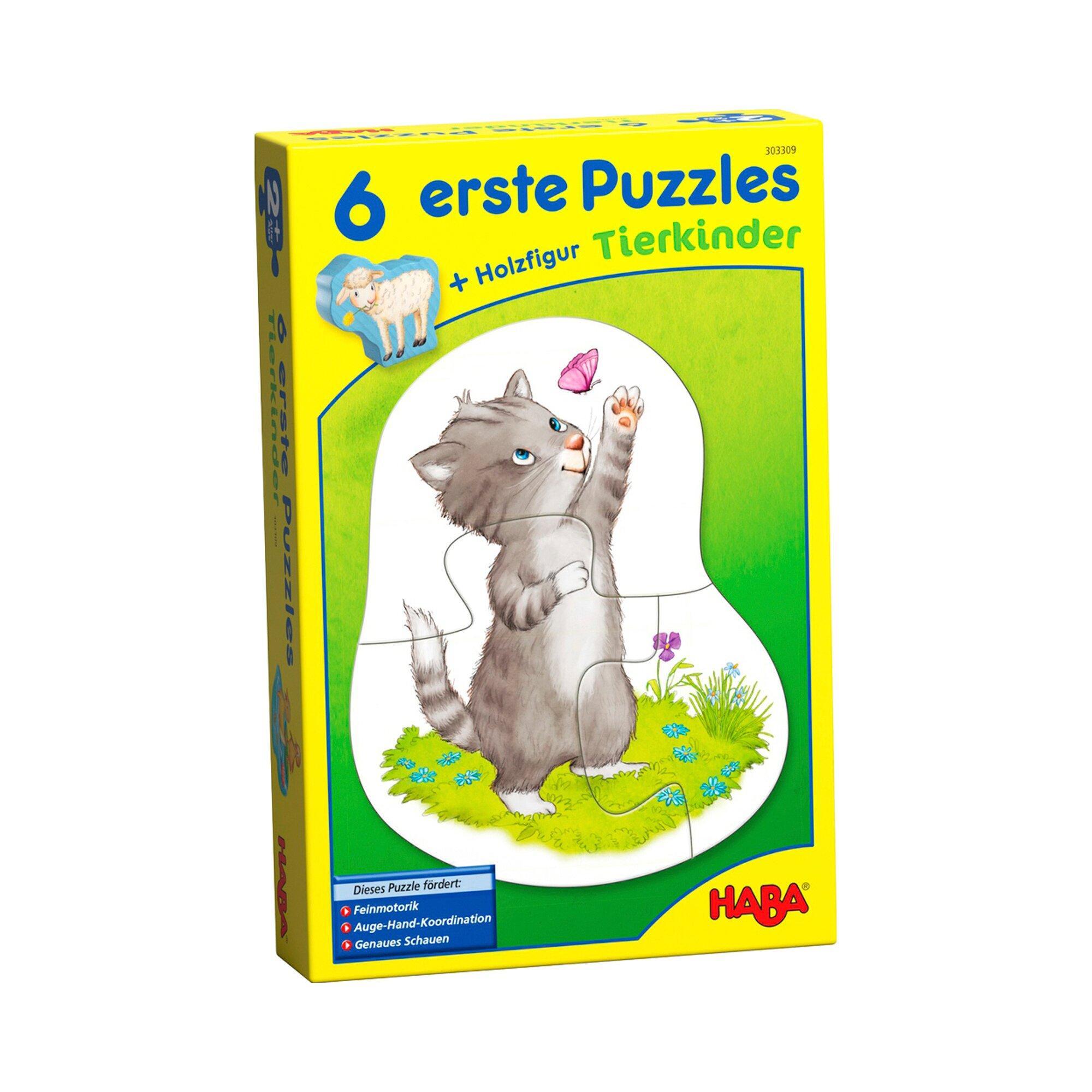 6 erste Puzzles - Tierkinder