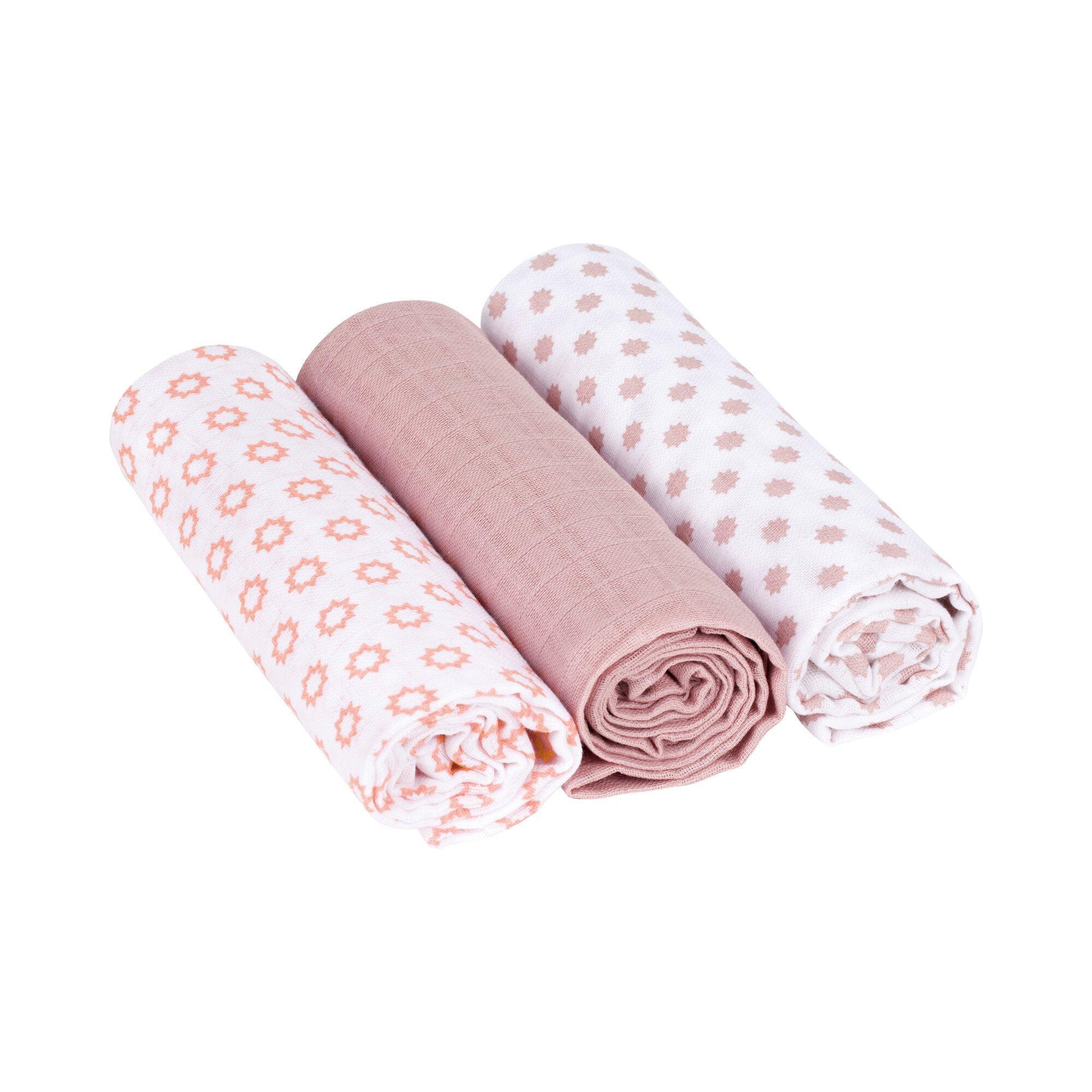 3er-Pack Mullwindel Swaddle & Burp Blanket L 85x85 cm