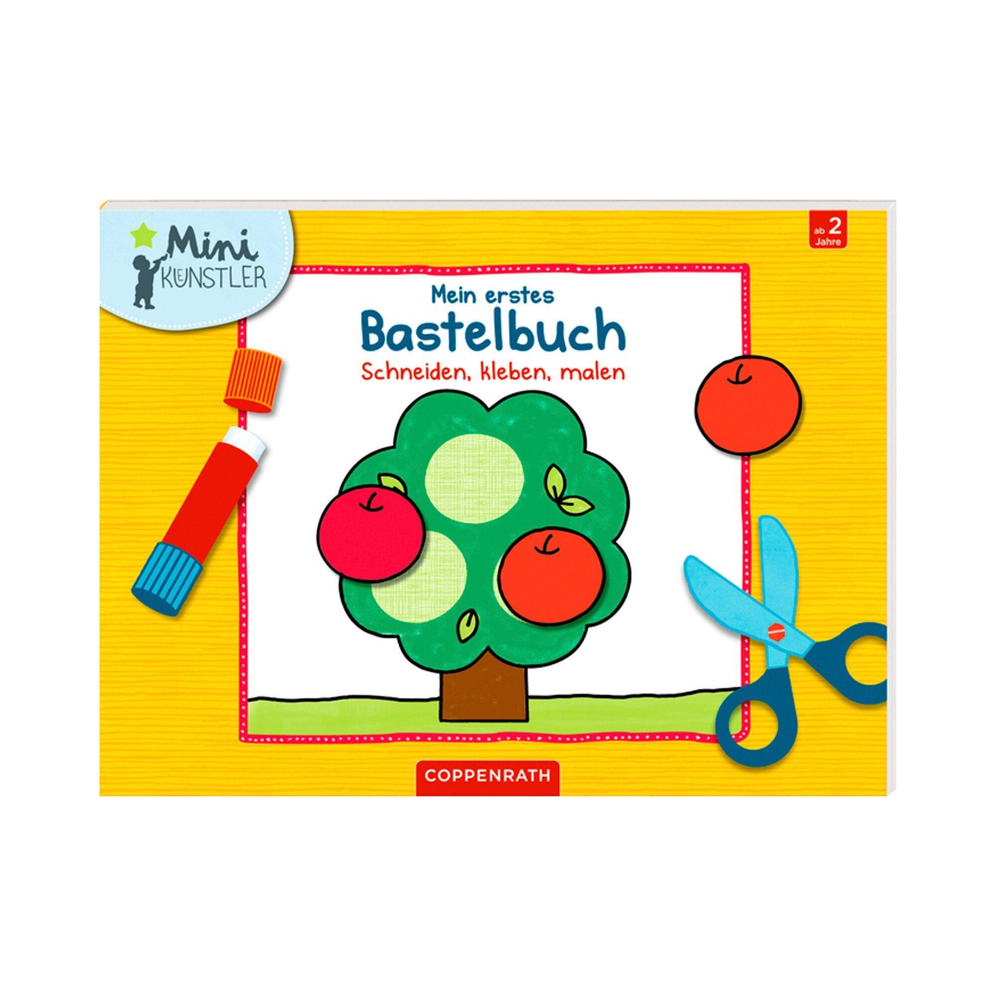 Kreativbuch Mein erstes Bastelbuch Schneiden, kleben malen Mini Künstler