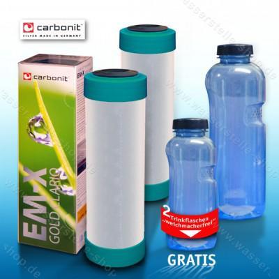 2x Carbonit EM Premium D, gratis 2 Trinkflaschen weichmacherfrei