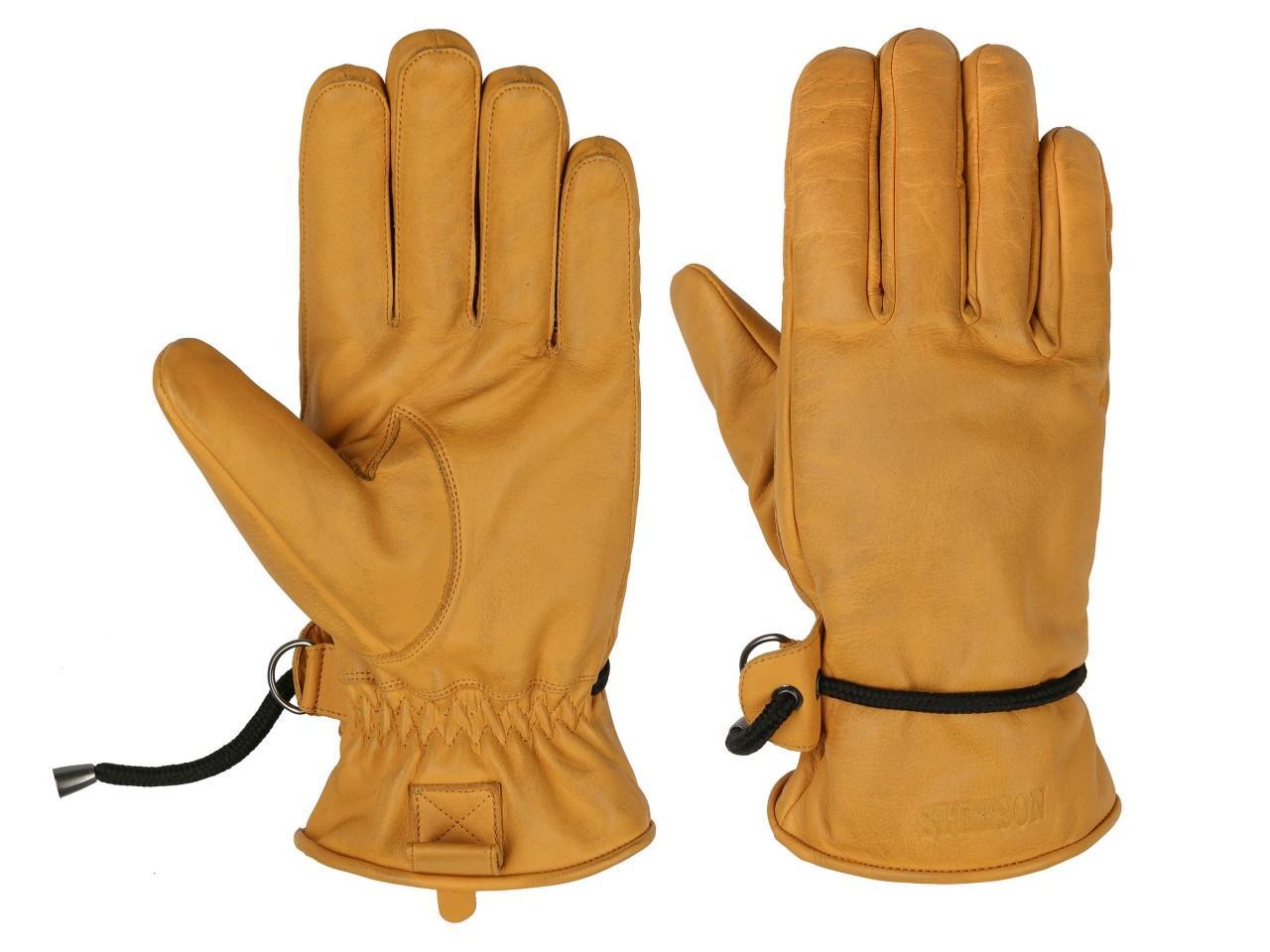 Stetson Gloves Cowhide Lederhandschuhe, Gelb (9) 21,5 cm (8/S)
