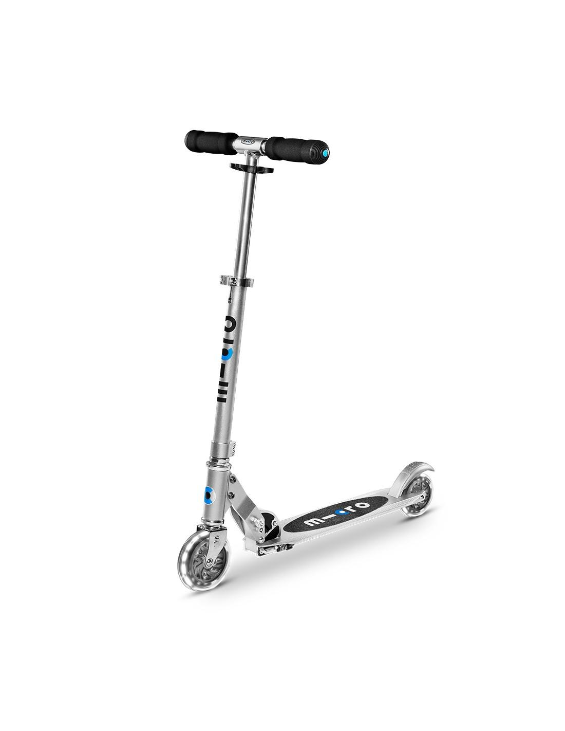 Micro Scooter Sprite Silber LED Scooterreifen - PU Reifen, Scooterart - Scooter, Scooterfarbe - Silber,