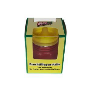 Reinex Fruchtfliegen-Falle, Insektenstopp für Frucht-, Obst- und Essigfliegen, 1 Stück