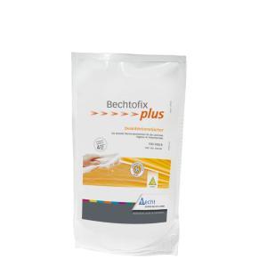 Bechtofix plus Desinfektionstücher, Vorgetränkte kleine Desinfektionstücher zur Desinfektion und Reinigung, 1 Nachfüllpackung = 100 Tücher