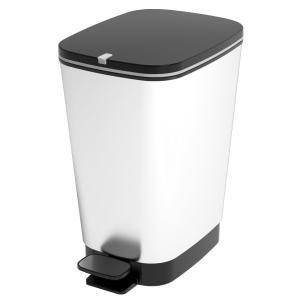 KIS CHIC Bin Abfallbehälter, Maße: 26,5 x 40,5 x 45 cm, Farbe: Silber