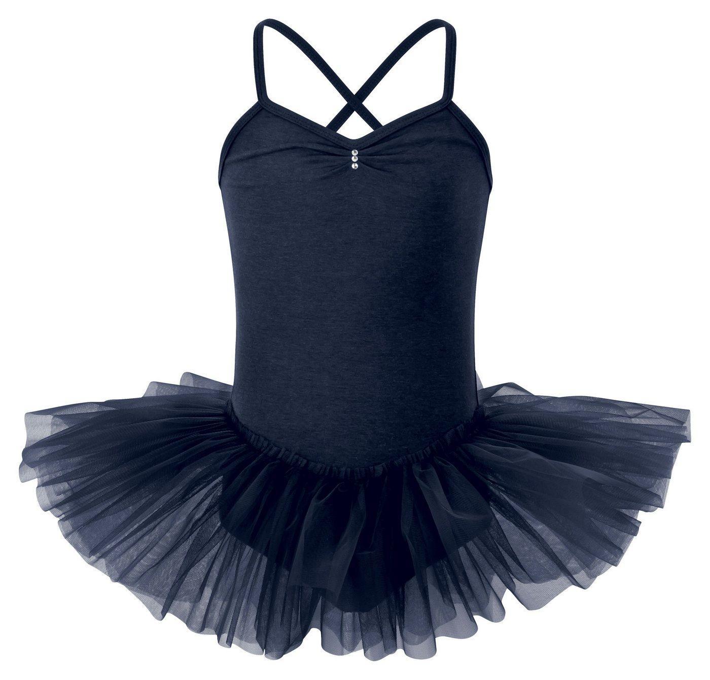 tanzmuster Tüllkleid »Ballett Tutu Kim mit Glitzersteinen« Ballettkleid für Mädchen, blau