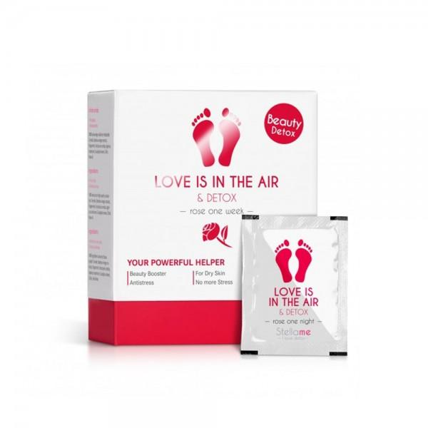 Love is in the air & Detox Fußpads, Rose 7 night Detox