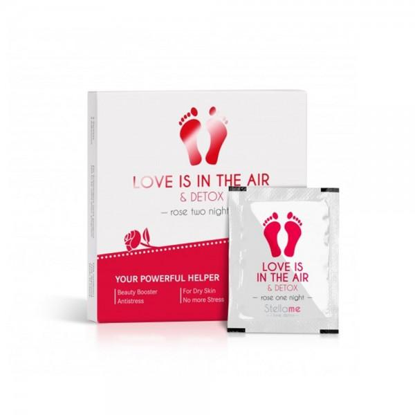 Love is in the air & Detox Fußpads, Rose 2 night Detox