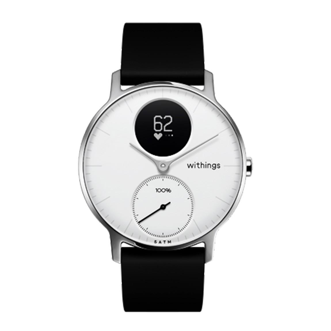 Withings Steel HR Smartwatch - 36 mm Black/White