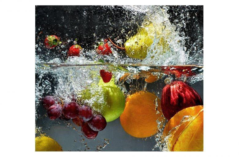 Wall-Art Herd-Abdeckplatte »Küche Herdabdeckplatte Obst«, Glas, (Set, 2 tlg)
