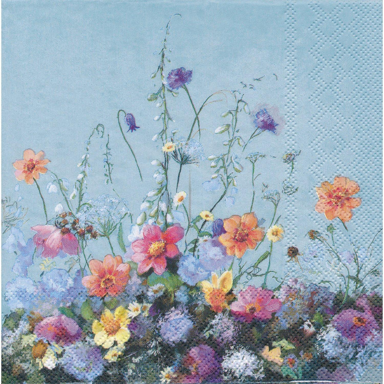 """Papierserviette """"Blumenwiese"""", 33 x 33 cm, 20 Stück"""