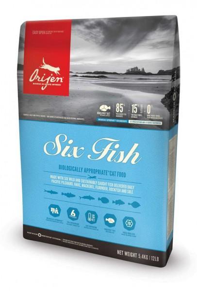 Orijen Katzenfutter Six Fish - 6 Fish (getreidefrei) - 5,4 kg