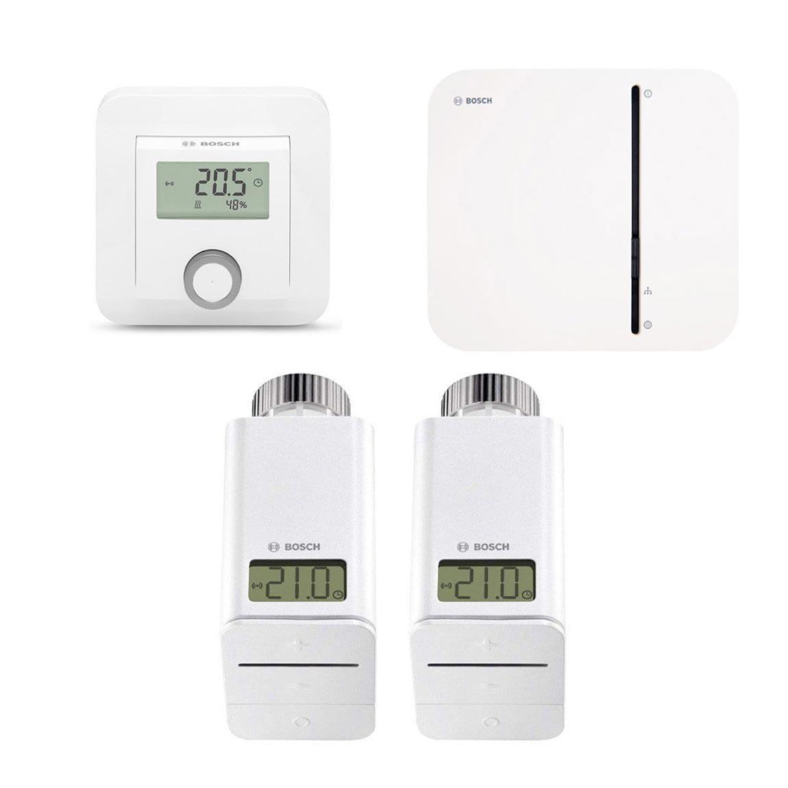 Bosch Smart Home - Starter Set Heizung mit 2 Heizkörperthermostaten + Raumthermostat