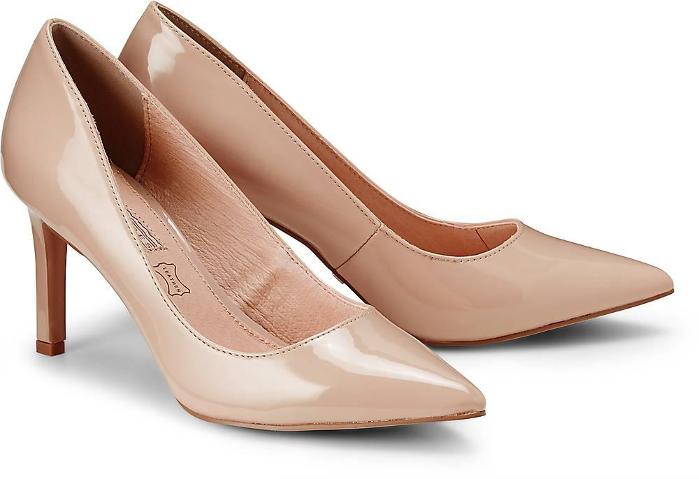 Buffalo, Lack-Pumps in beige, Pumps für Damen Gr. 36