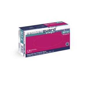 Semperguard® Einmalhandschuhe, Vinyl, puderfrei, Farbe: weiß, 1 Packung = 90 Stück, Größe XL
