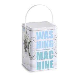 Zeller Washing machine Waschpulver-Box, Waschpulverbehälter mit Tragegriff, Maße: ca. 15 x 15 x 21 cm