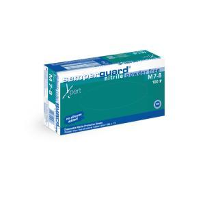 Semperguard® Xpert Nitril Einmalhandschuhe, Hautfreundliche, blaue Einweghandschuhe, 1 Packung = 100 Stück, Größe: S