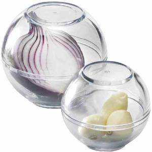WESTMARK Frischhaltekugeln, Zum Aufbewahren von Knoblauch, Zwiebeln etc., 1 Set = 2 Stück