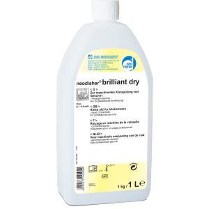 Dr. Weigert neodisher brilliant dry Klarspüler, Klarspülmittel zum Einsatz in Geschirrspülmaschinen, 1 Liter - Flasche